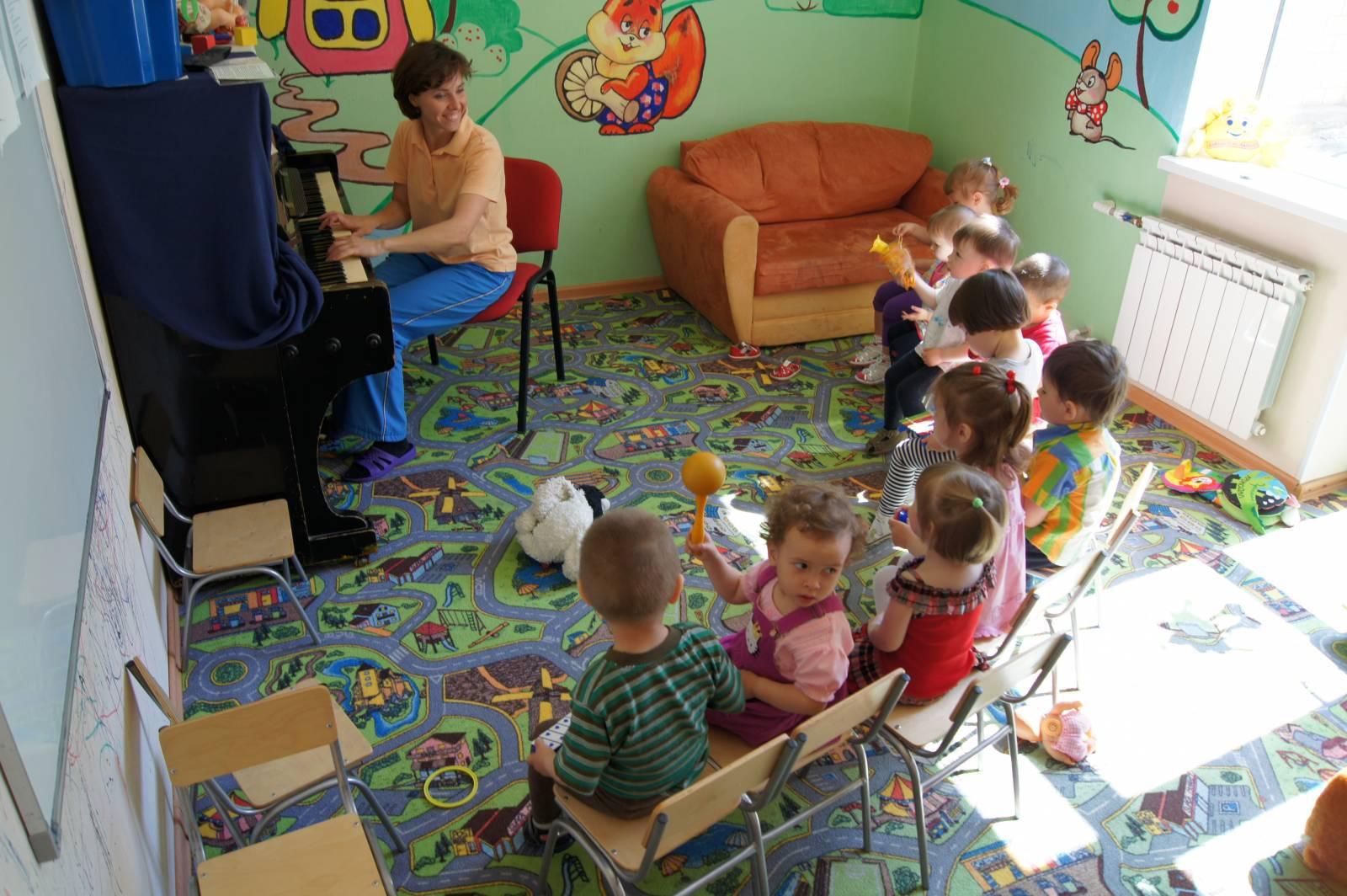 Фото детей в садах на занятиях